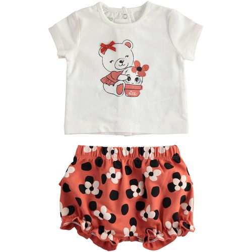 Completo t-shirt con dolce stampa e short