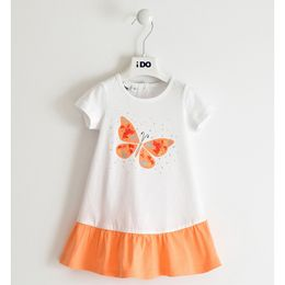 100% cotton dress with coloured skirt