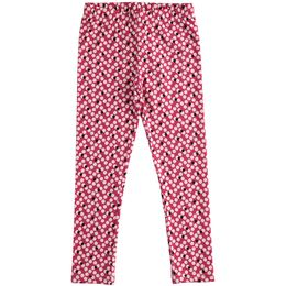 Leggings lungo in jersey stretch con stampa all over