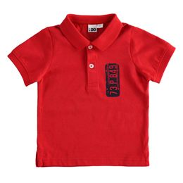 100% cotton jersey polo shirt with print