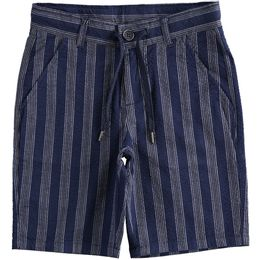 Short trousers in striped cotton