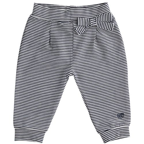 Long trousers with striped pattern