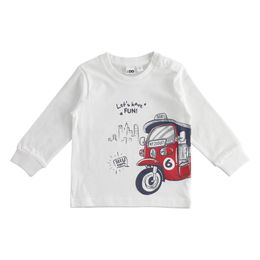 100% cotton round neck T-shirt with taxi print