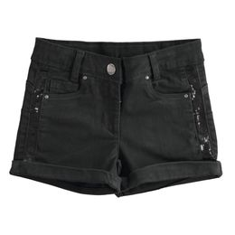 Twill shorts with sequin band