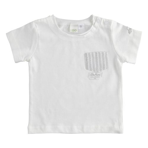 100% cotton T-shirt with raised pocket