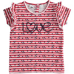 """Stretch jersey crewneck T-shirt with """"Love"""" embroidery"""