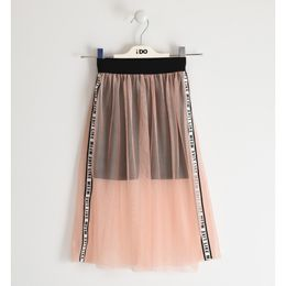 Tulle skirt with stretch jersey leggings
