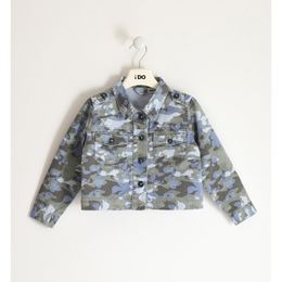 Camouflage patterned 100% cotton twill jacket