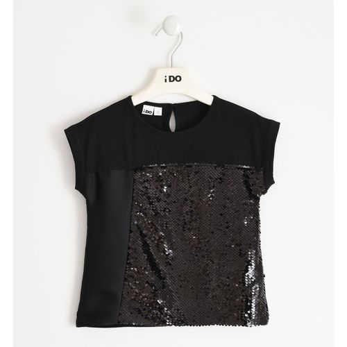 Nice jersey T-shirt with reversible sequins