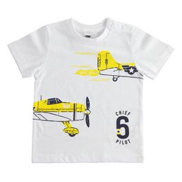 100% cotton T-shirt with airplanes