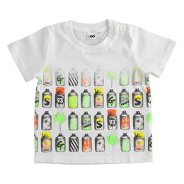 100% cotton T-shirt with spray cans print