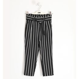 Special trousers in crêpe fabric with dropped crotch
