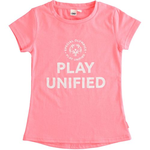 """T-shirt fluo """"Play Unified - Special Olympics"""" per bambina"""
