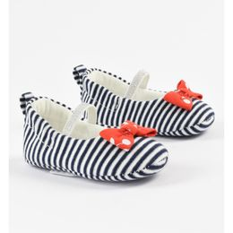 Patterned striped ballet shoes