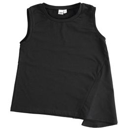 Stretch jersey tank top with particular side