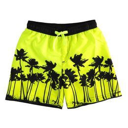 Boxer swimsuit with palm trees beachwear line