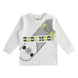 100% cotton crew-neck t-shirt with various printed details