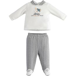 TWO PIECES ROMPERS SUIT WITH FEET