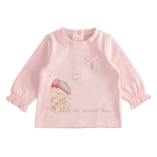 Very sweet, long-sleeved, 100% cotton t-shirt with small bow