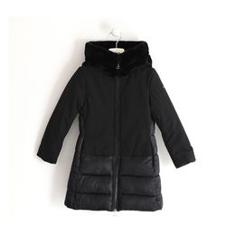 Double material jacket lined in warm fabric